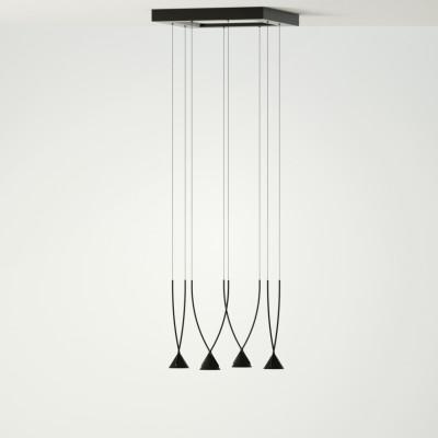 Axo Light - Thin - Jewel 4 SP LED - Lampadario moderno - Nero - LS-AX-SPJEWE04NENELED - Bianco caldo - 3000 K - Diffusa