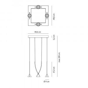 Axo Light - Thin - Jewel 4 SP LED - Lampadario moderno