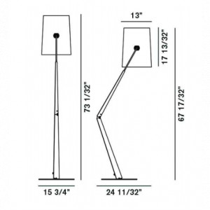 Diesel with Foscarini - Fork - Fork PT - Lampada da terra