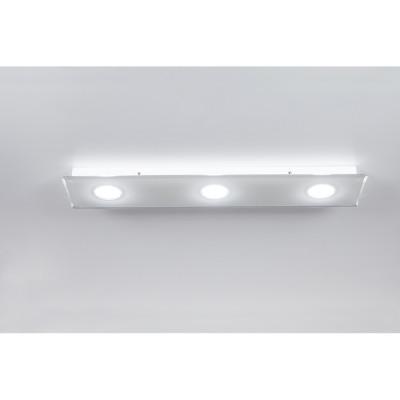 Emporium - Domino - Domino PL 3 - Lampada a soffitto a tre luci - Bianco - LS-EM-CL585-10
