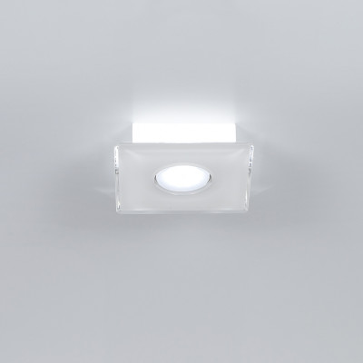 Emporium - Domino - Domino PLQ 1 - Plafoniera quadrata a una luce - Bianco - LS-EM-CL583-10