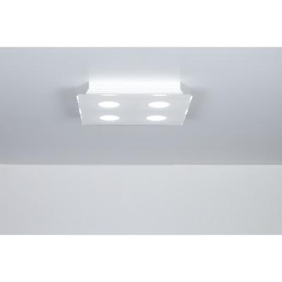 Emporium - Domino - Domino PLQ 4 - Plafoniera quadrata a quattro luci - Bianco - LS-EM-CL582-10