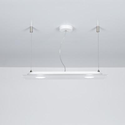 Emporium - Domino - Domino SP 2 - Lampada a sospensione rettangolare - Bianco - LS-EM-CL578-10