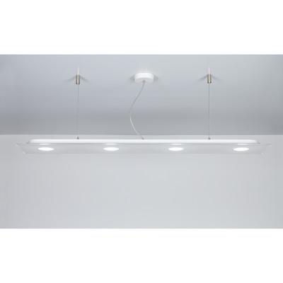 Emporium - Domino - Domino SP 4 - Lampadario a LED per ufficio - Bianco - LS-EM-CL580-10