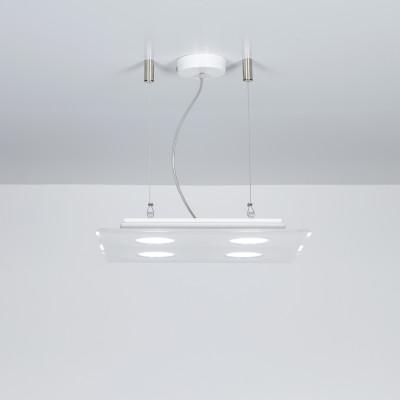 Emporium - Domino - Domino SPQ 4 - Lampada a sospensione quadrata - Bianco - LS-EM-CL581-10