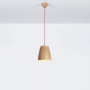 Emporium - Grog - Grog SP M - Lampada a sospensione a una luce in legnolene