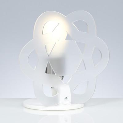 Emporium - Nuclea - Clea - Lampada da comodino - Bianco satinato - LS-EM-CL182-12