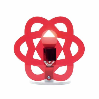 Emporium - Nuclea - Clea - Lampada da comodino - Rosso - LS-EM-CL182-51