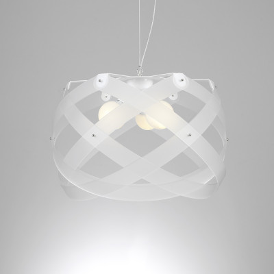 Emporium - Nuclea - Nuclea maxi - Lampada a sospensione - Bianco satinato - LS-EM-CL129-12