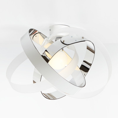 Emporium - Nuvola - Nuvola PL - Lampada da soffitto o da parete - Bicolor bianco satinato/cromolite - LS-EM-CL881-95