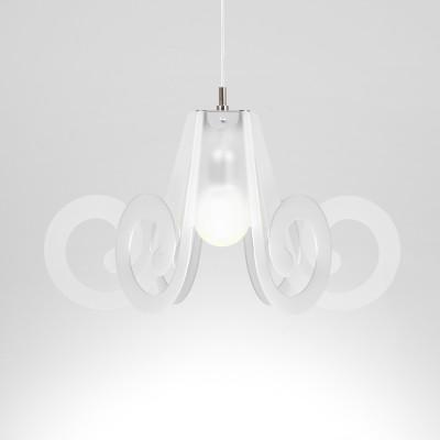 Emporium - Riccia - Ricciolino - Lampada a sospensione - Bianco satinato - LS-EM-CL908-12