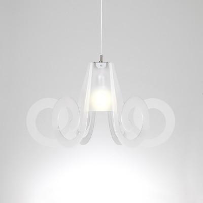 Emporium - Riccia - Ricciolo - Lampada a sospensione - Bianco satinato - LS-EM-CL909-12