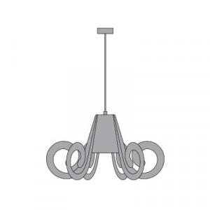Emporium - Riccia - Ricciolo - Lampada a sospensione