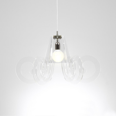 Emporium - Riccia - Ricciolo - Lampada a sospensione - Trasparente - LS-EM-CL909-11