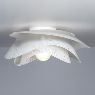 Emporium - Rosa - Rosa paralume B - Lampada da soffitto o da parete - Bianco satinato - LS-EM-CL478-10