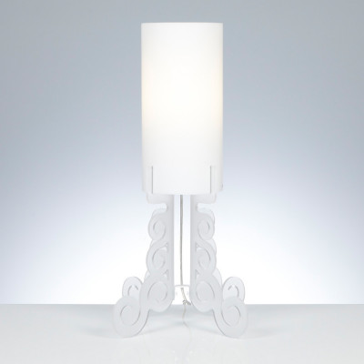 Emporium - Truciolo - Truciolo B - Lampada da tavolo - Bianco satinato - LS-EM-CL190-12