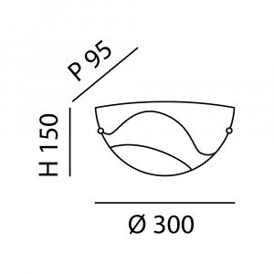 Fabas Luce - Decorative - Magma AP - Applique in vetro