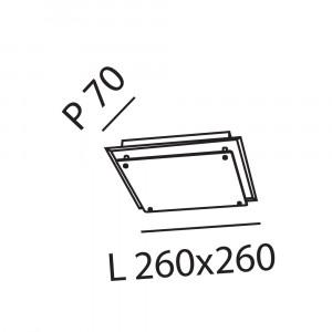 Fabas Luce - Galaxy - Galaxy PL S LED - Plafoniera quadrata grande
