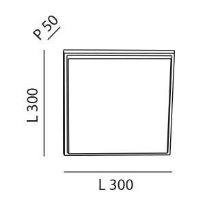Fabas Luce - Geometric - Desdy LED PL L - Plafoniera quadrata grande