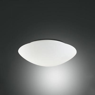 Fabas Luce - Geometric - Pandora AP PL L LED - Applique e plafoniera di design rotonda grande - Bianco satinato - LS-FL-3563-65-102 - Bianco caldo - 3000 K -