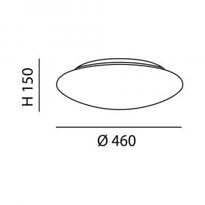 Fabas Luce - Geometric - Pandora AP PL L LED - Applique e plafoniera di design rotonda grande