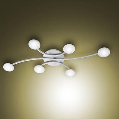 Fabas Luce - Mill - Mill LED PL - Plafoniera a sei luci - Nessuna - LS-FL-3253-76-178 - Bianco caldo - 3000 K - Diffusa
