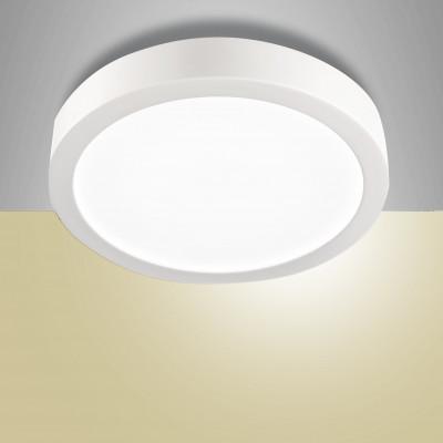Fabas Luce - Mirka - Mirka PL LED M OUT - Plafoniera rotonda - Bianco - LS-FL-3446-61-102 - Bianco caldo - 3000 K - Diffusa