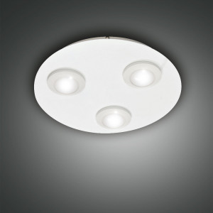 Fabas Luce - Swan - Swan PL 3 S round - Plafoniera a 3 luci