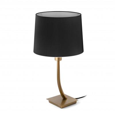 Faro - Indoor - Hotelerie - Rem TL - Lampada da tavolo moderna con paralume - Nero - LS-FR-29685-2P0123