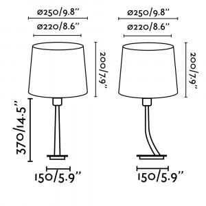 Faro - Indoor - Hotelerie - Rem TL - Lampada da tavolo moderna con paralume