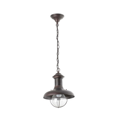 Faro - Outdoor - Estoril - Estoril SP S - Sospensione rustica da terrazzo piccola - Ruggine - LS-FR-71142