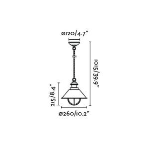 Faro - Outdoor - Nautica - Nautica 1L SP S  - Lampadario rustico per esterni piccolo