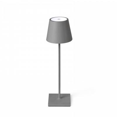 Faro - Outdoor - Portable - Toc TE LED - Lampada touch da tavolo portatile con presa USB - Grigio -  - Bianco caldo - 3000 K - Diffusa