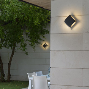 Faro - Outdoor - Shadow - Bu-oh AP LED - Lampada a parete di design LED per il giardino