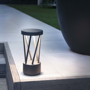 Faro - Outdoor - Shadow - Twist-300 LED TE - Paletto di design per il giardino