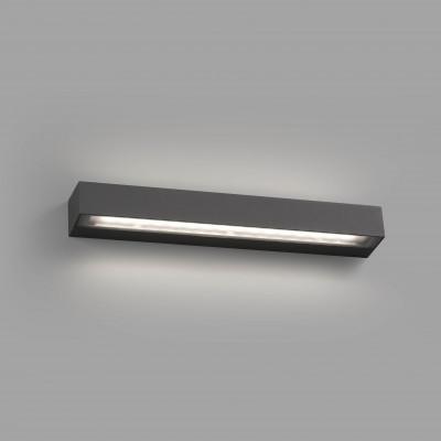 Faro - Outdoor - Sun - Tacos LED AP - Applique minimal da esterno rettangolare - Antracite - LS-FR-71062 - Bianco caldo - 3000 K - Diffusa