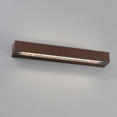 Faro - Outdoor - Sun - Tacos LED AP - Applique minimal da esterno rettangolare - Corten - LS-FR-71065 - Bianco caldo - 3000 K - Diffusa