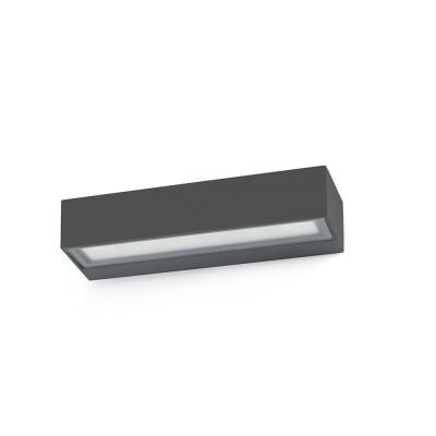 Faro - Outdoor - Sun - Toluca AP LED - Applique biemissione LED da esterno - Grigio -  - Bianco caldo - 3000 K - Diffusa