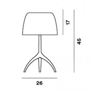 Foscarini - Lumiere - Lampada da tavolo con dimmer