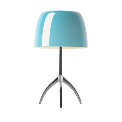 Foscarini - Lumiere - Lumiere TL S - Lampada da tavolo - Alluminio/turchese - LS-FO-0260012R2-32D