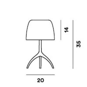 Foscarini - Lumiere - Lumiere TL S - Lampada da tavolo S