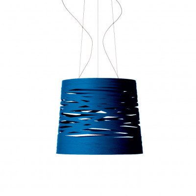 Foscarini - Tress - Tress Grande SP - Lampada a sospensione grande - Indaco - LS-FO-182007-87
