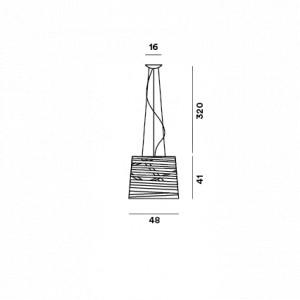 Foscarini - Tress - Tress Grande SP - Lampada a sospensione grande