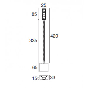 i-LèD - Movable - Sken - Sken-2Q - 190-250 V - powerLED 2 W 630 mA