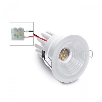 i-LèD - Outlet - Faretto da incasso a soffitto Ajust - Proiettore da incasso ottica fissa con led antiabbagliamento - Bianco RAL 9010 -  - Bianco caldo - 3000 K - 70°