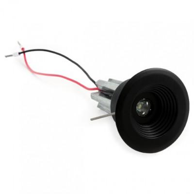 i-LèD - Outlet - Faretto da incasso a soffitto Arent - Proiettore ad ottica fissa con led antiabbagliamento - Nichel spazzolato -  - Bianco naturale - 4000 K - 70°