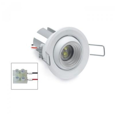 i-LèD - Outlet - Faretto da incasso a soffitto Ilien - Proiettore con ottica basculante con led antiabbagliamento - Bianco RAL 9010 -  - Bianco naturale - 4000 K - 70°