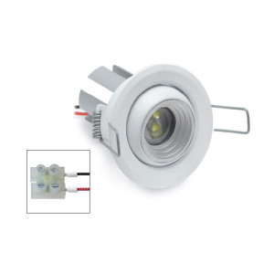 i-LèD - Outlet - Faretto da incasso a soffitto Ilien - Proiettore con ottica basculante con led antiabbagliamento