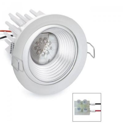 i-LèD - Outlet - Faretto da incasso a soffitto Judit - Proiettore a led con ottica basculante antiabbagliamento - Bianco RAL 9010 -  - Bianco caldo - 3000 K - 70°
