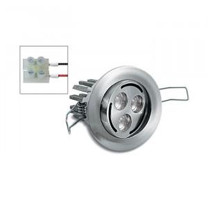 i-LèD - Outlet - Faretto da parete a incasso Bascon - Faretto a incasso ad illuminazione led con ottica basculante